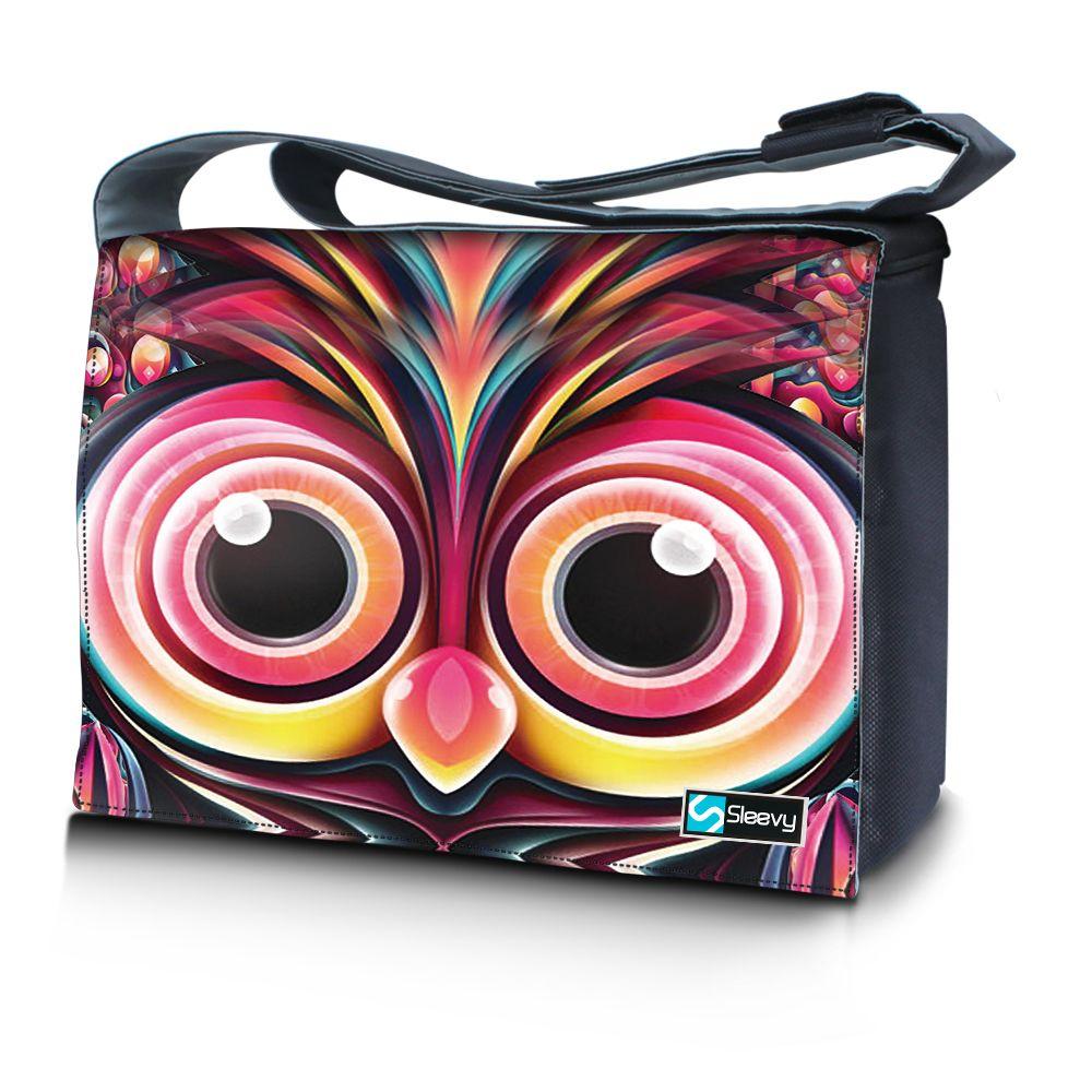 Messengertas / laptoptas 17,3 inch artistieke uil - Sleevy
