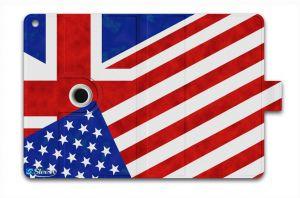 Sleevy iPad Air hoes met USA Engeland vlag
