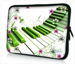 laptophoes 10.1 inch artistiek piano design Sleevy