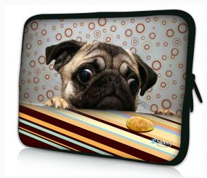 laptophoes 10.1 inch grappig hondje Sleevy