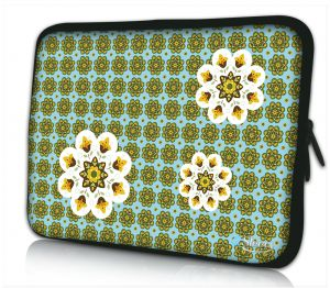 Laptophoes 11 inch creatief bloemen design Sleevy