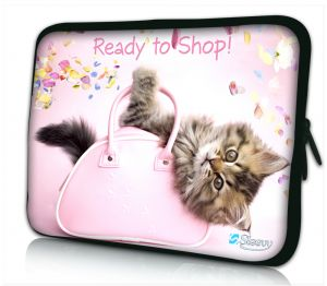 Laptophoes 11 inch poesje ready to shop Sleevy