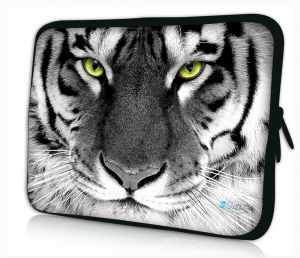 Sleevy 11,6 inch laptophoes macbookhoes witte tijger