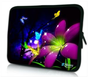 Laptophoes 13 inch grote bloem Sleevy