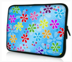 Sleevy 13,3 inch laptophoes macbookhoes bloemen