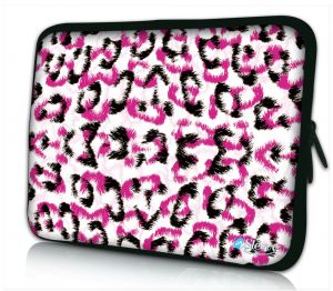 Laptophoes 13 inch witte panterprint Sleevy