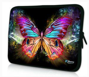 laptophoes 13.3 inch gekleurde vlinder Sleevy