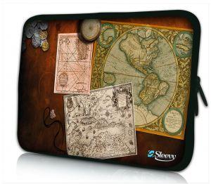 Laptophoes 14 inch antieke kaarten Sleevy