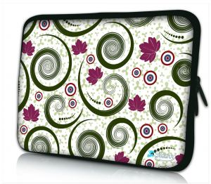 Laptophoes 14 inch artistiek tornado design Sleevy