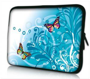 laptophoes 14 inch gekleurde vlindertjes Sleevy
