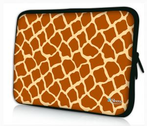Sleevy 15,6 inch laptophoes giraffe print
