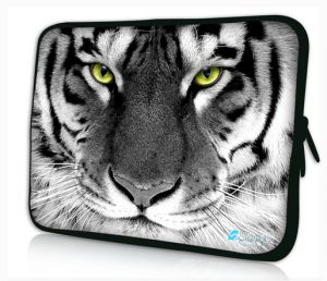 Sleevy 15,6 inch laptophoes witte tijger