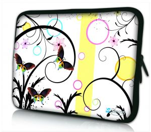 laptophoes 17 inch artistiek vlinder design Sleevy