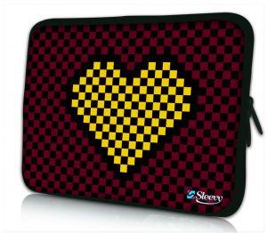 laptophoes 17 inch blokvormig hart Sleevy