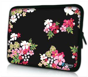 laptopjoes 17 inch gekleurde bloemen Sleevy