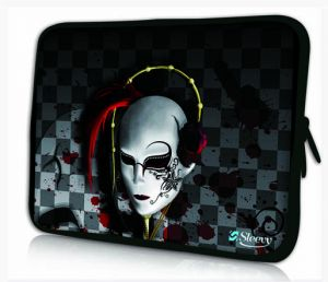 laptophoes 17,3 venetiaans masker sleevy