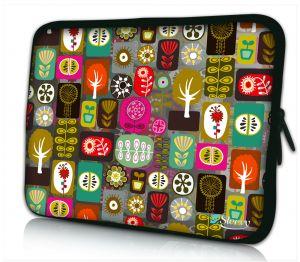 laptophoes 17 inch kleurrijke symbolen Sleevy