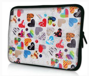 laptophoes 17.3 inch gekleurde harten Sleevy