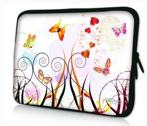 laptophoes 17.3 inch gekleurde vlinders Sleevy