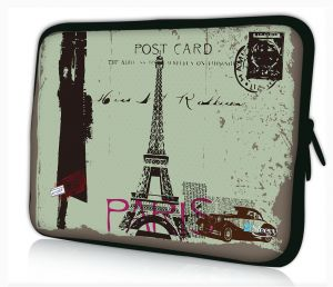 laptophoes 17.3 inch Postcard Paris Sleevy