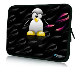 "Sleevy 15"" laptophoes pinguïn"