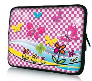 """Sleevy 15"""" laptophoes vlinders"""