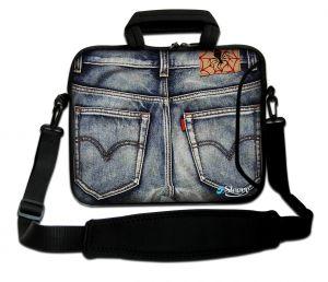 Sleevy 15,6 inch laptoptas spijkerbroek