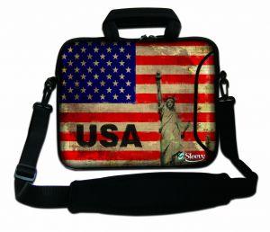 Sleevy 15,6 inch laptoptas USA design