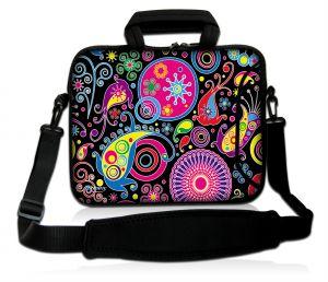 Sleevy 15,6 inch laptoptas patronen design