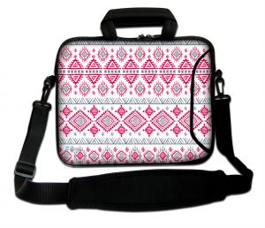Sleevy 15.6 inch laptoptas artistiek patroon
