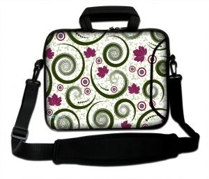 Sleevy 15.6 inch laptoptas artistiek tornado patroon