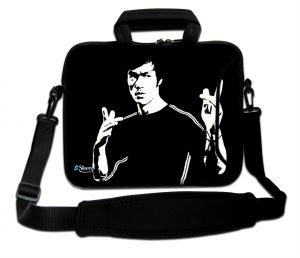 Sleevy 15,6 inch laptoptas Bruce Lee