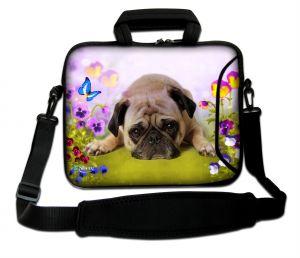 Sleevy 15,6 inch laptoptas hond