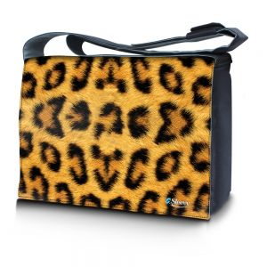Sleevy 15,6 inch laptoptas luipaardprint