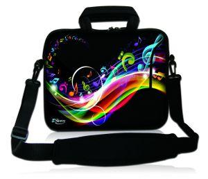 Sleevy 15,6 inch laptoptas muzieknoten