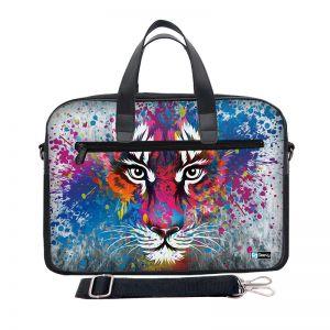 Laptoptas 17,3 inch / schoudertas tijger artistiek - Sleevy