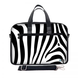 Laptoptas 17,3 inch / schoudertas zebra - Sleevy
