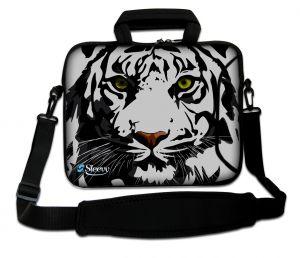 laptoptas 17 inch grijze tijger Sleevy