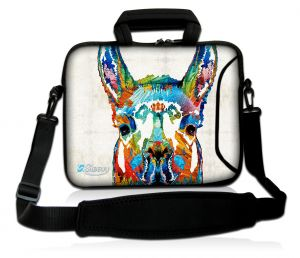 Laptoptas 17,3 inch lama artistiek - Sleevy