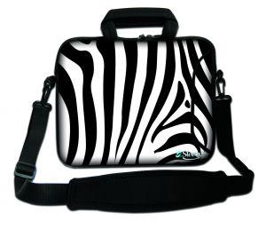 17,3 inch laptoptas Sleevy zebra print