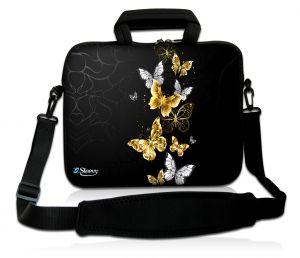 Laptoptas 17,3 inch vlinders goud - Sleevy
