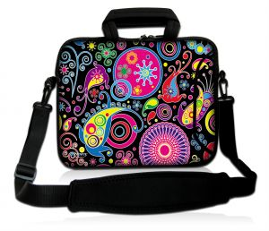 Sleevy 17,3 inch laptoptas patronen design