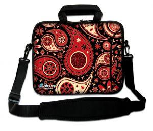 laptoptas 17 inch rood patronen design Sleevy