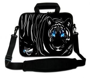 laptoptas 17 inch zwarte tijger Sleevy