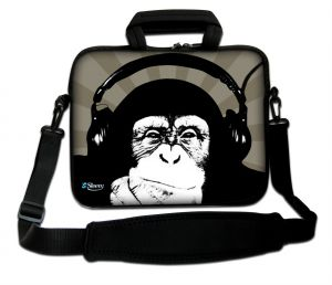 Sleevy 17.3 inch laptoptas chimpansee