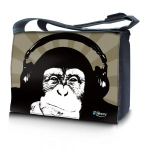 Sleevy 17,3 inch laptoptas chimpansee