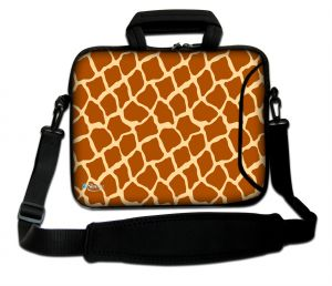 Sleevy 17,3 inch laptoptas giraffe design