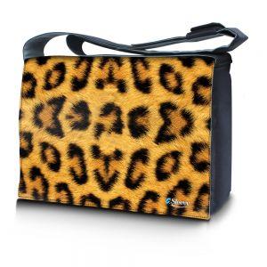 Sleevy 17,3 inch laptoptas luipaardprint
