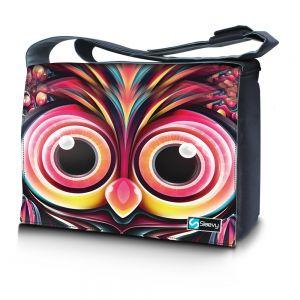 Messengertas / laptoptas 15,6 inch artistieke uil - Sleevy