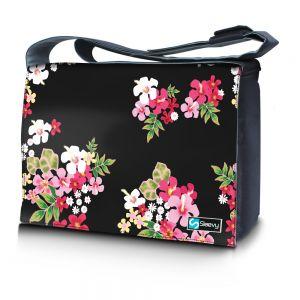Messengertas / laptoptas 15,6 inch gekleurde bloemen - Sleevy